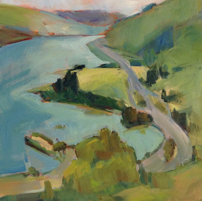 """Ribbon Road"" original fine art by Patti McNutt"