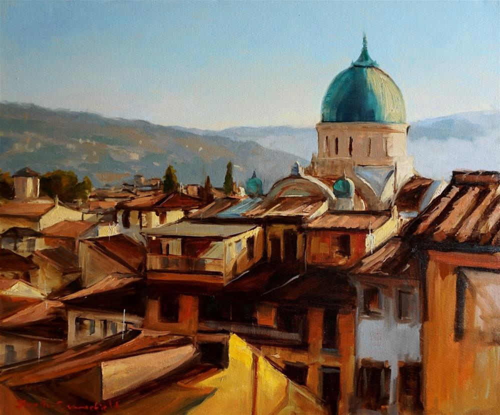 """Florence Rooftops"" original fine art by Jonelle Summerfield"