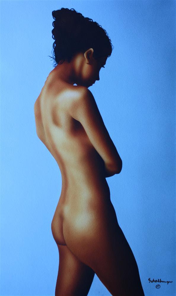 """Standing Nude Study"" original fine art by Fred Schollmeyer"