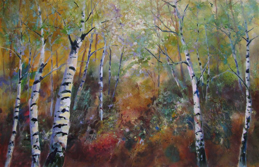 """Forest Depths"" original fine art by Melissa Gannon"