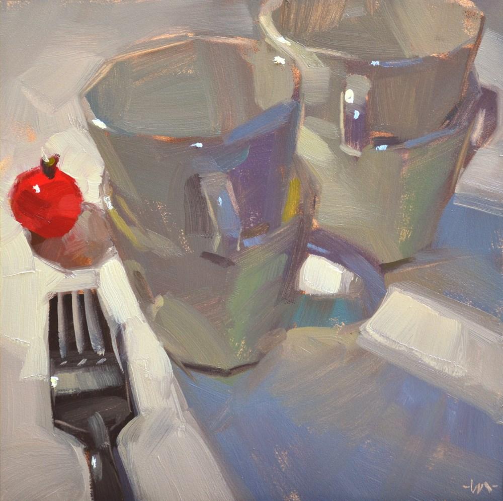 """Tomato Run"" original fine art by Carol Marine"