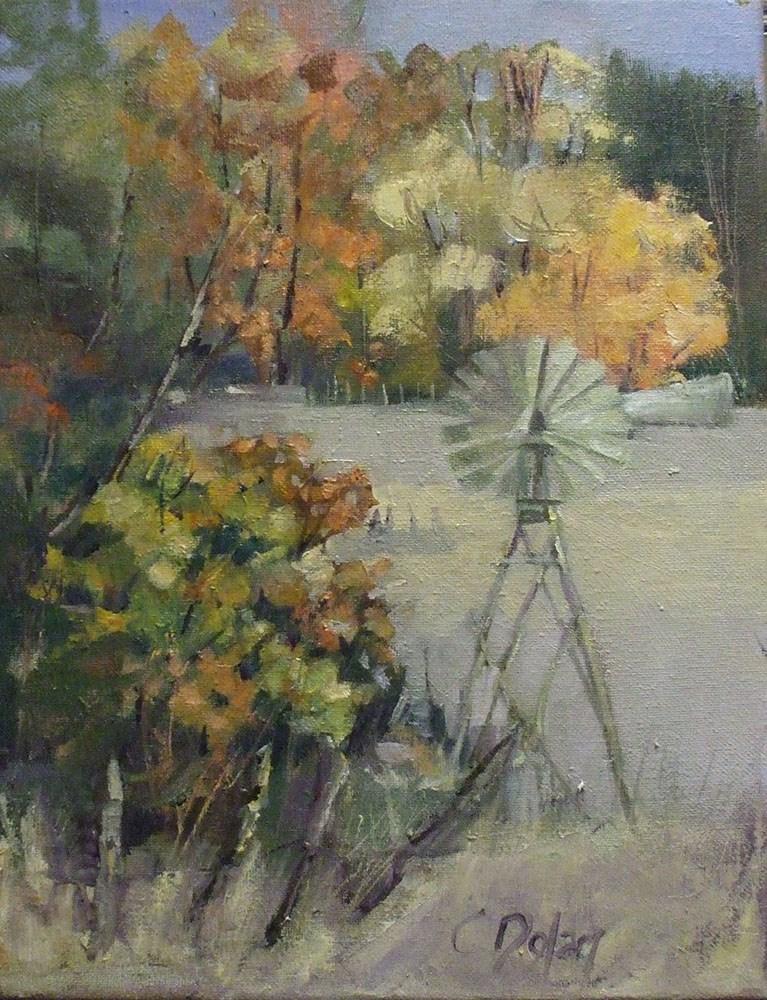 """Turn Right at the Windmill"" original fine art by Cheryl Williams Dolan"
