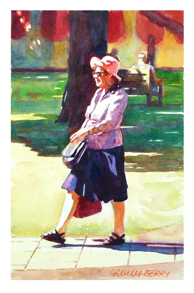 """English lady"" original fine art by Graham Berry"