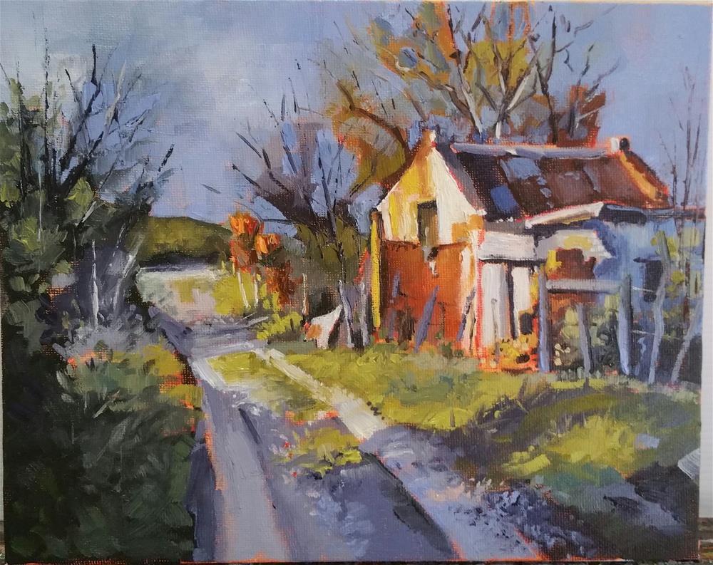 """""""Old cottage"""" original fine art by Erika Van Zyl"""