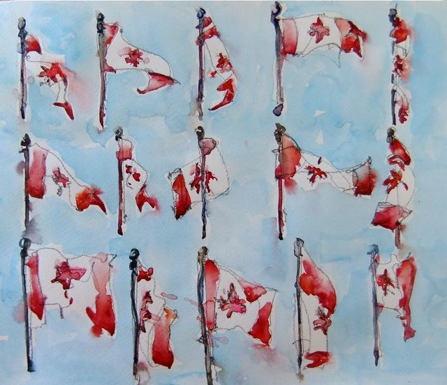 """Happy Canada Day!"" original fine art by Nora MacPhail"