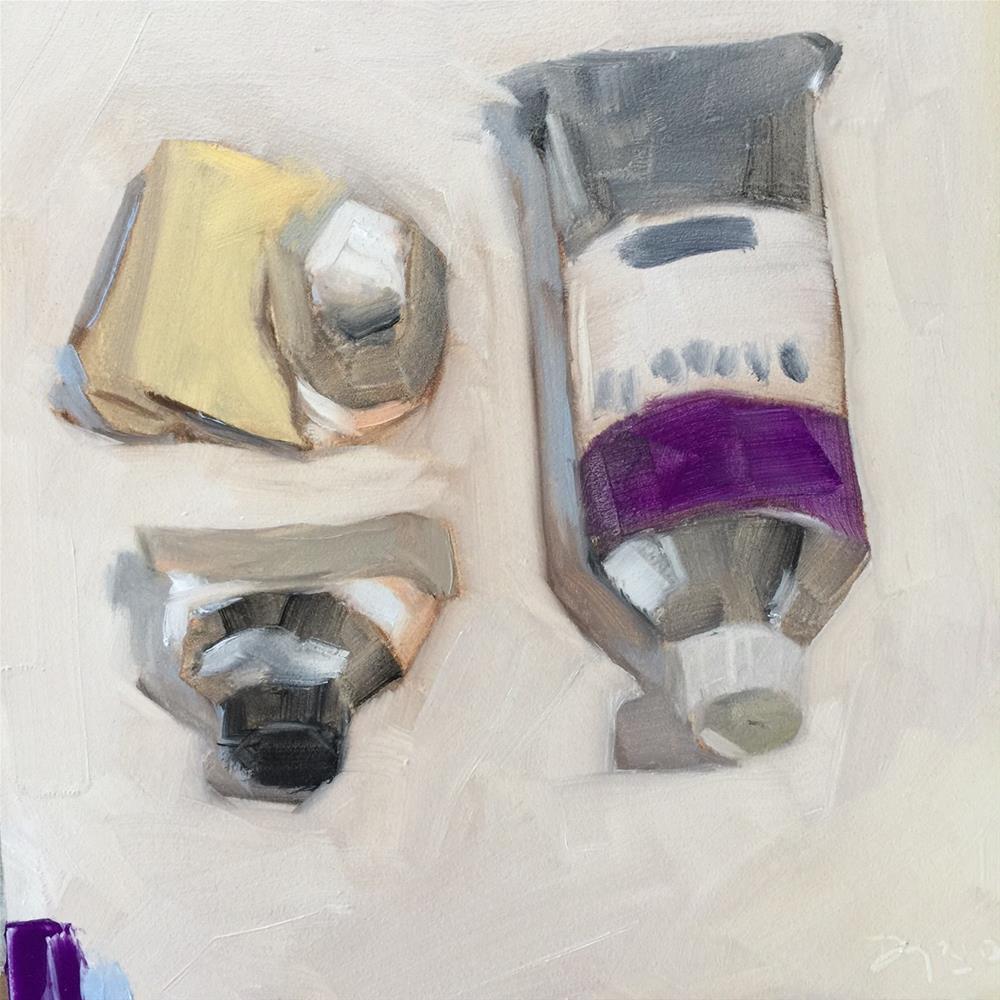 """167 Breaking in Cobalt Violet"" original fine art by Jenny Doh"