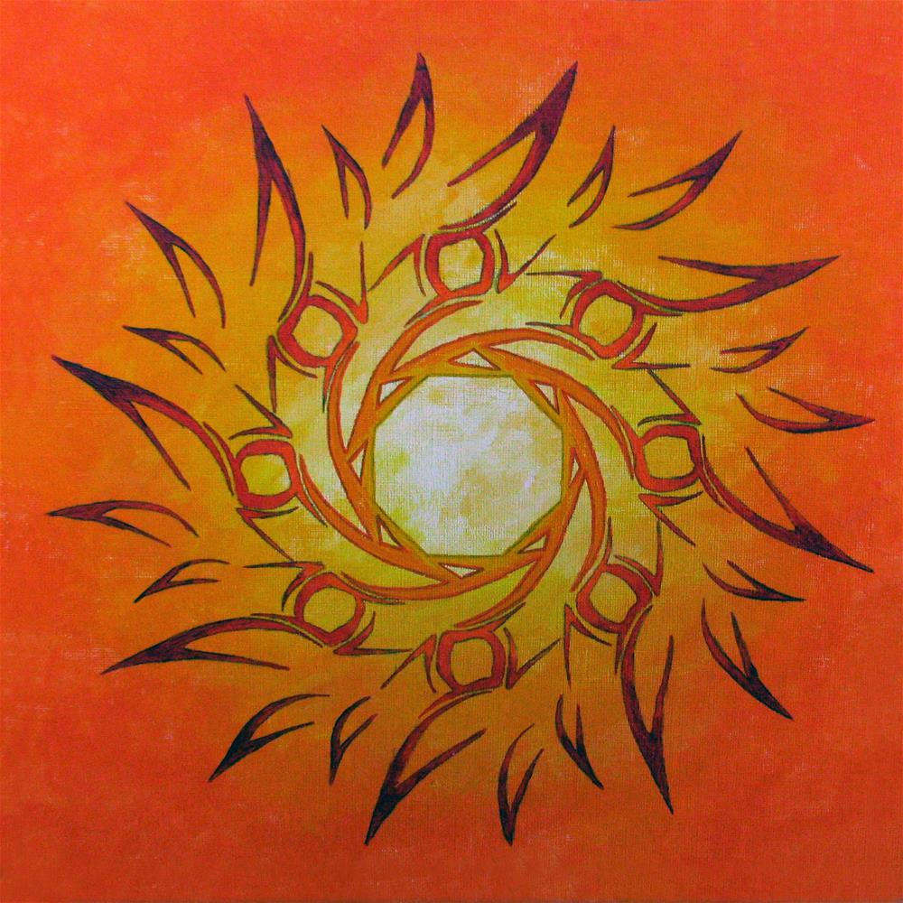 """Fire Sun 2"" original fine art by Nan Johnson"
