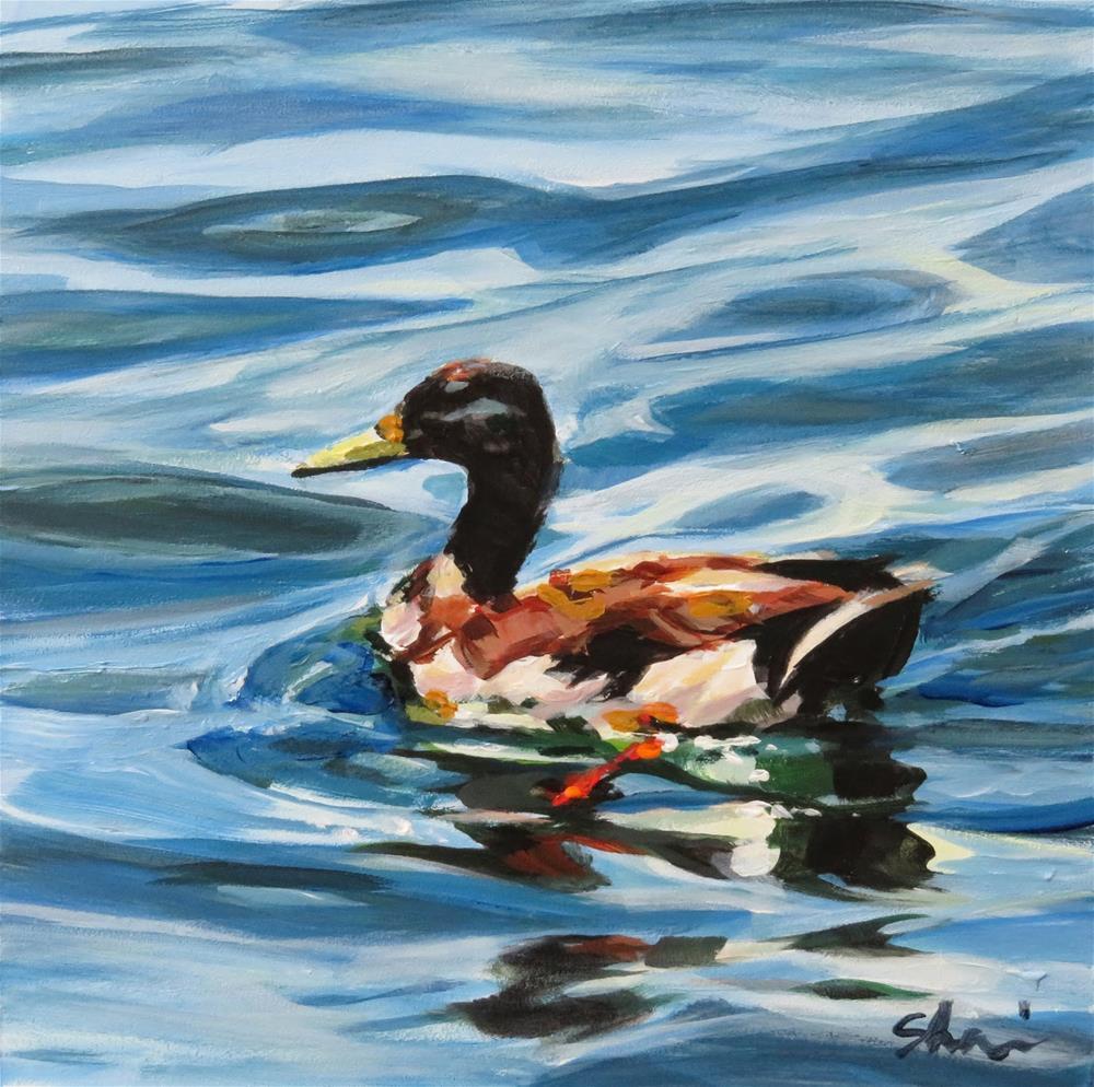 """""""Just Ducky"""" original fine art by Shari Buelt"""