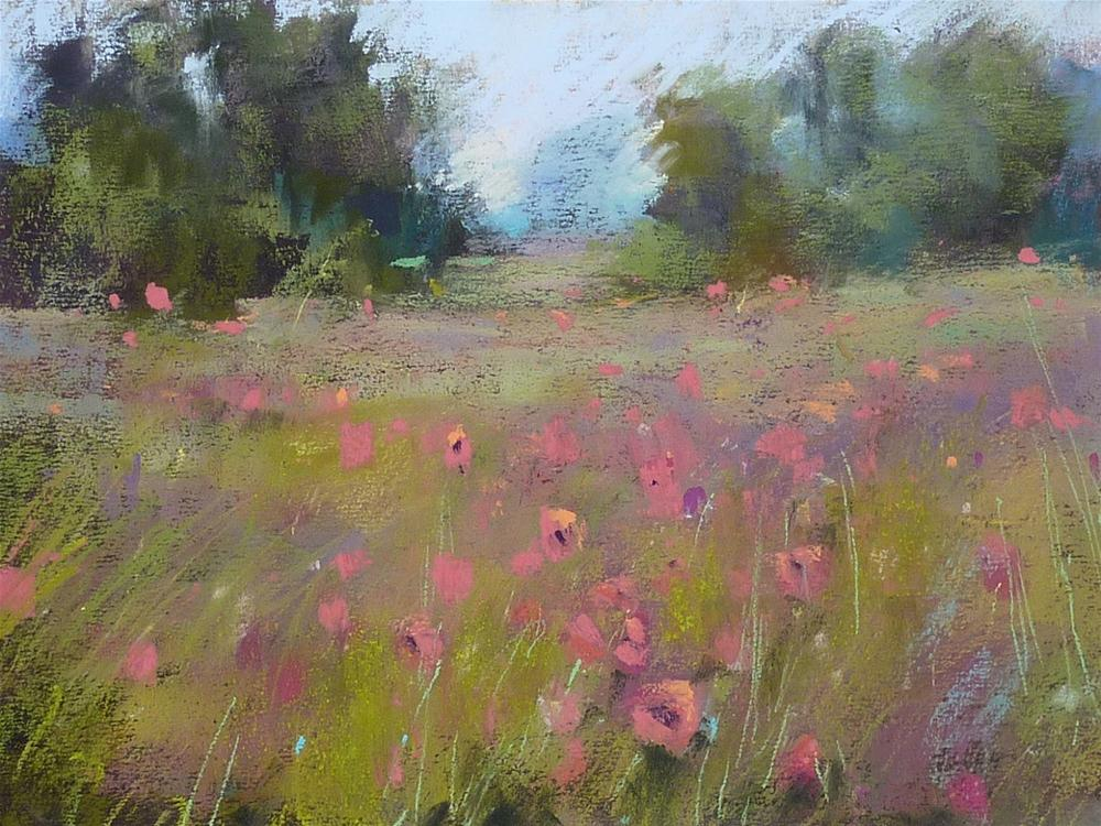 """The Best Thing About Being an Artist...Poppy Meadow"" original fine art by Karen Margulis"