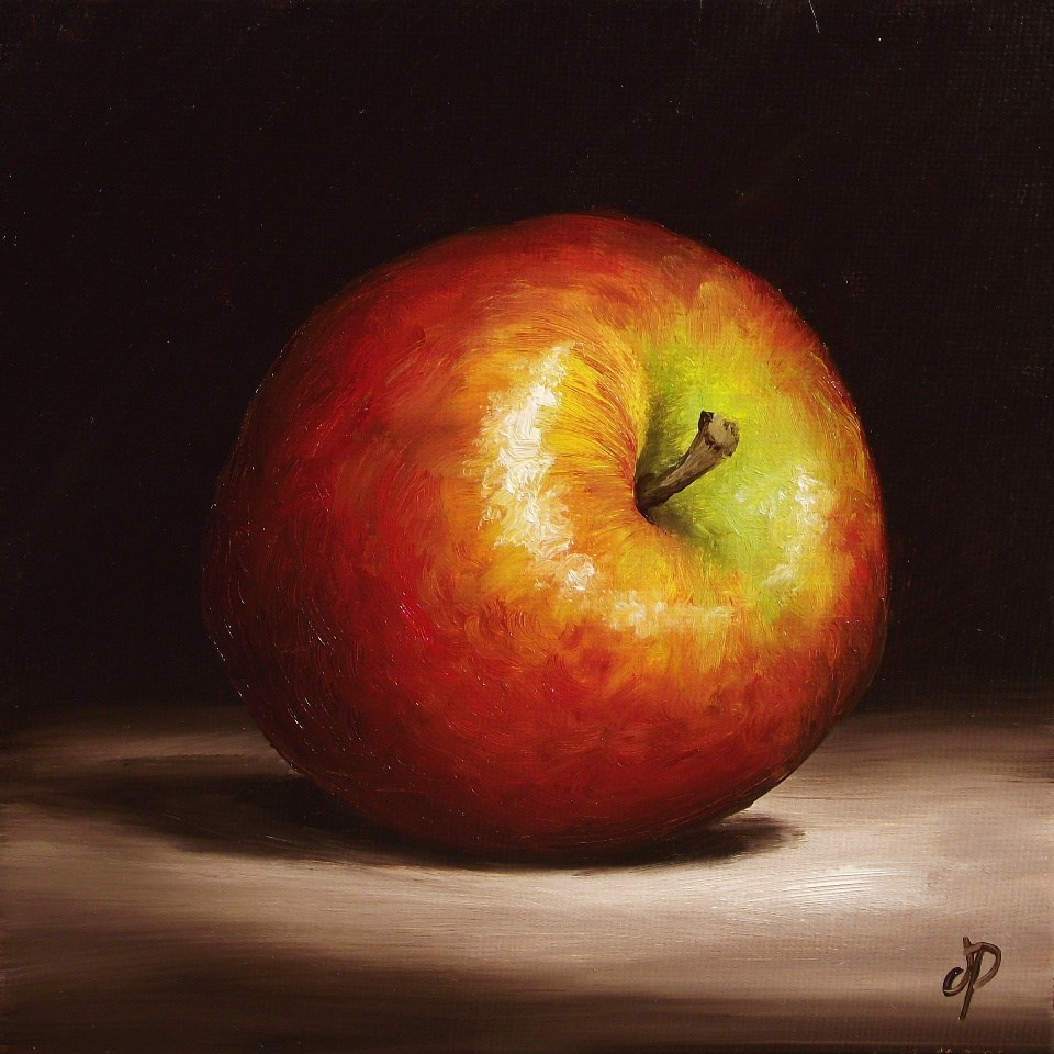 """Braeburn Apple #2"" original fine art by Jane Palmer"