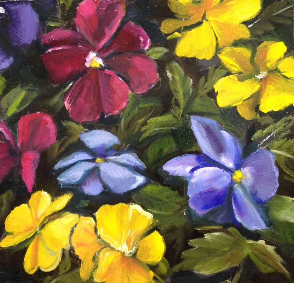 """""""Farewell To Pansies"""" original fine art by Beth Moreau"""