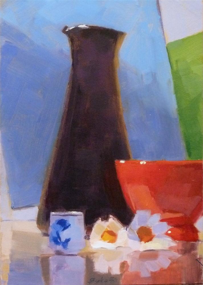 """Red Bowl"" original fine art by Ron Ferkol"