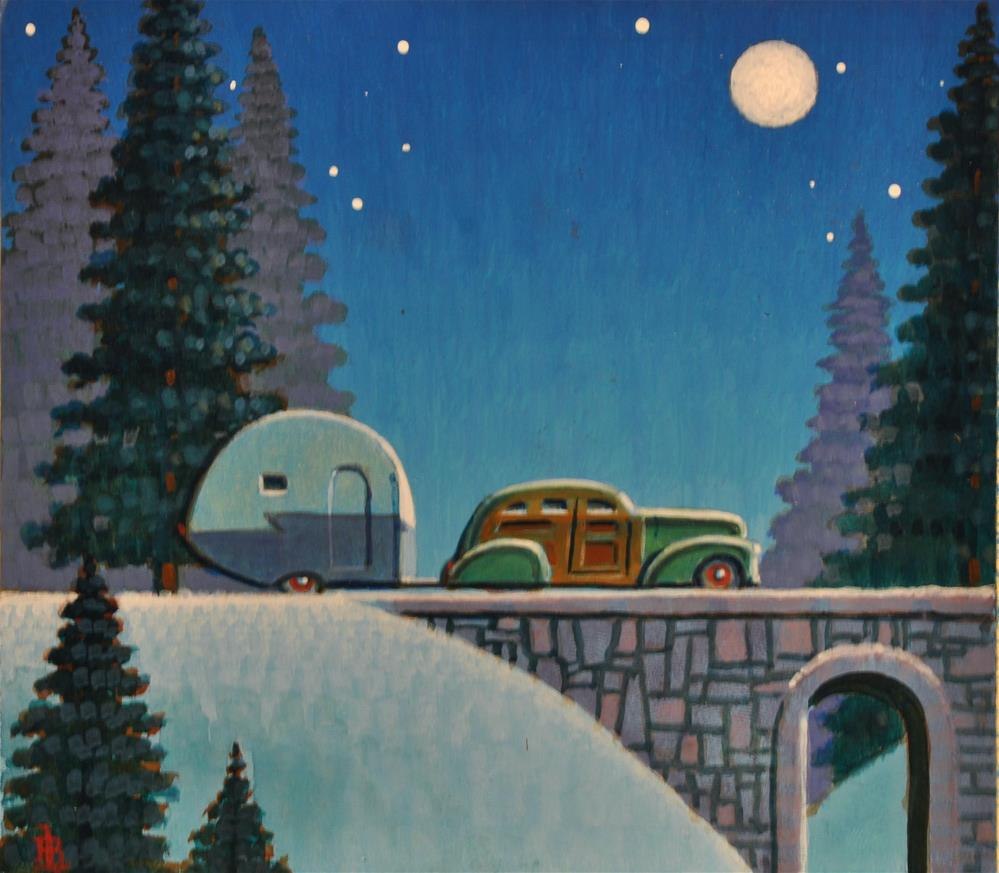 """Snow Bird"" original fine art by Robert LaDuke"