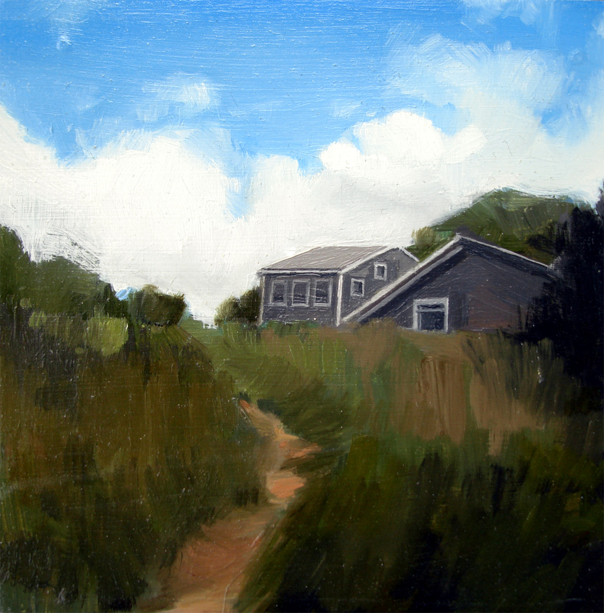 """Menemsha Trail, Martha's Vineyard"" original fine art by Michael William"