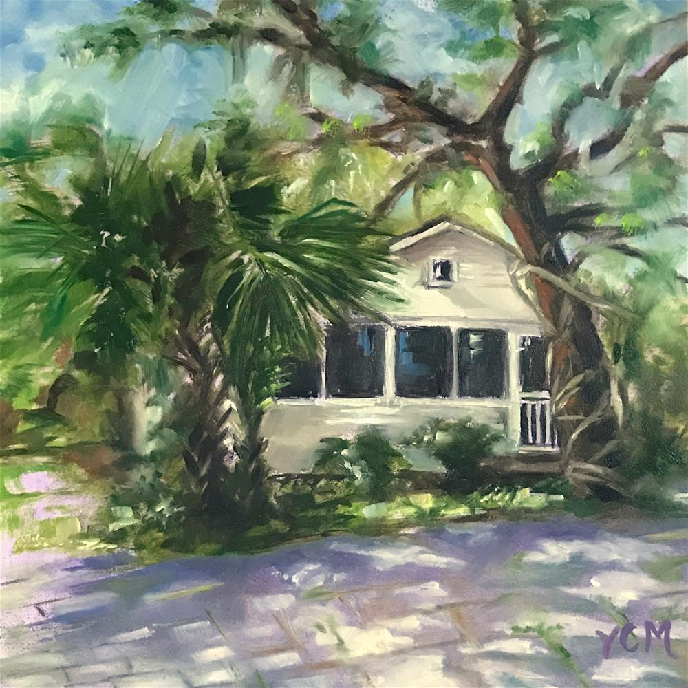 """Old Florida Cottage"" original fine art by Vana Meyers"