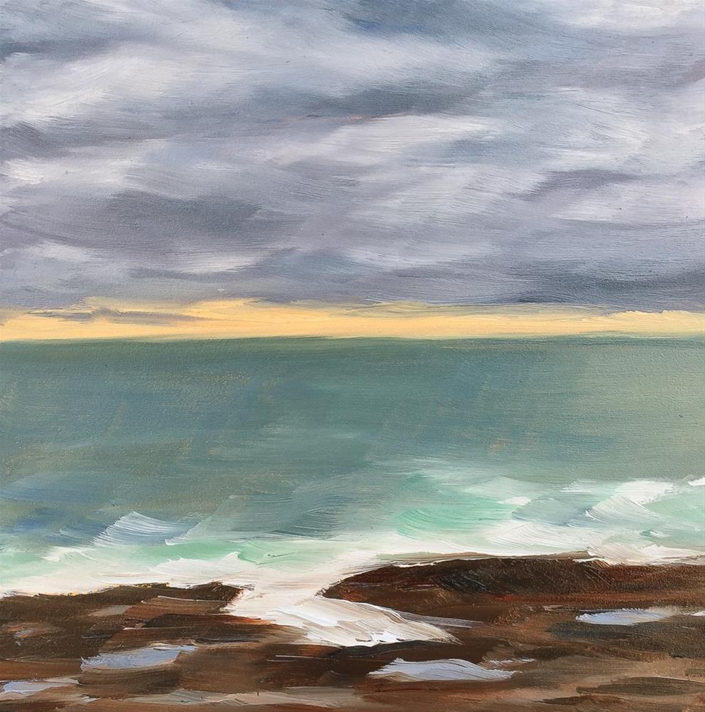 """""""#50 - Layers of Clouds - Two Lights State Park, ME"""" original fine art by Sara Gray"""