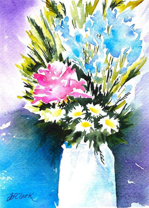 """""""Mixed Bouquet"""" original fine art by Judith Freeman Clark"""