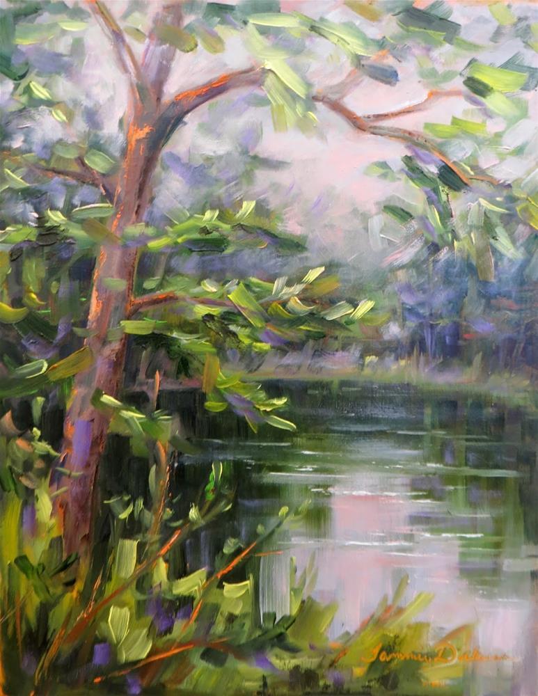 """""""Jackie's Pond"""" original fine art by Tammie Dickerson"""