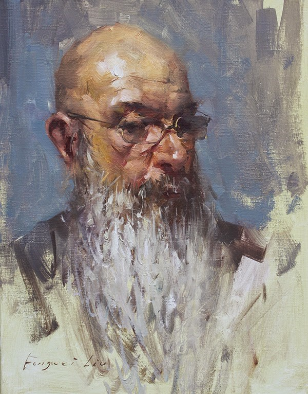 """""""John"""" original fine art by Fongwei Liu"""