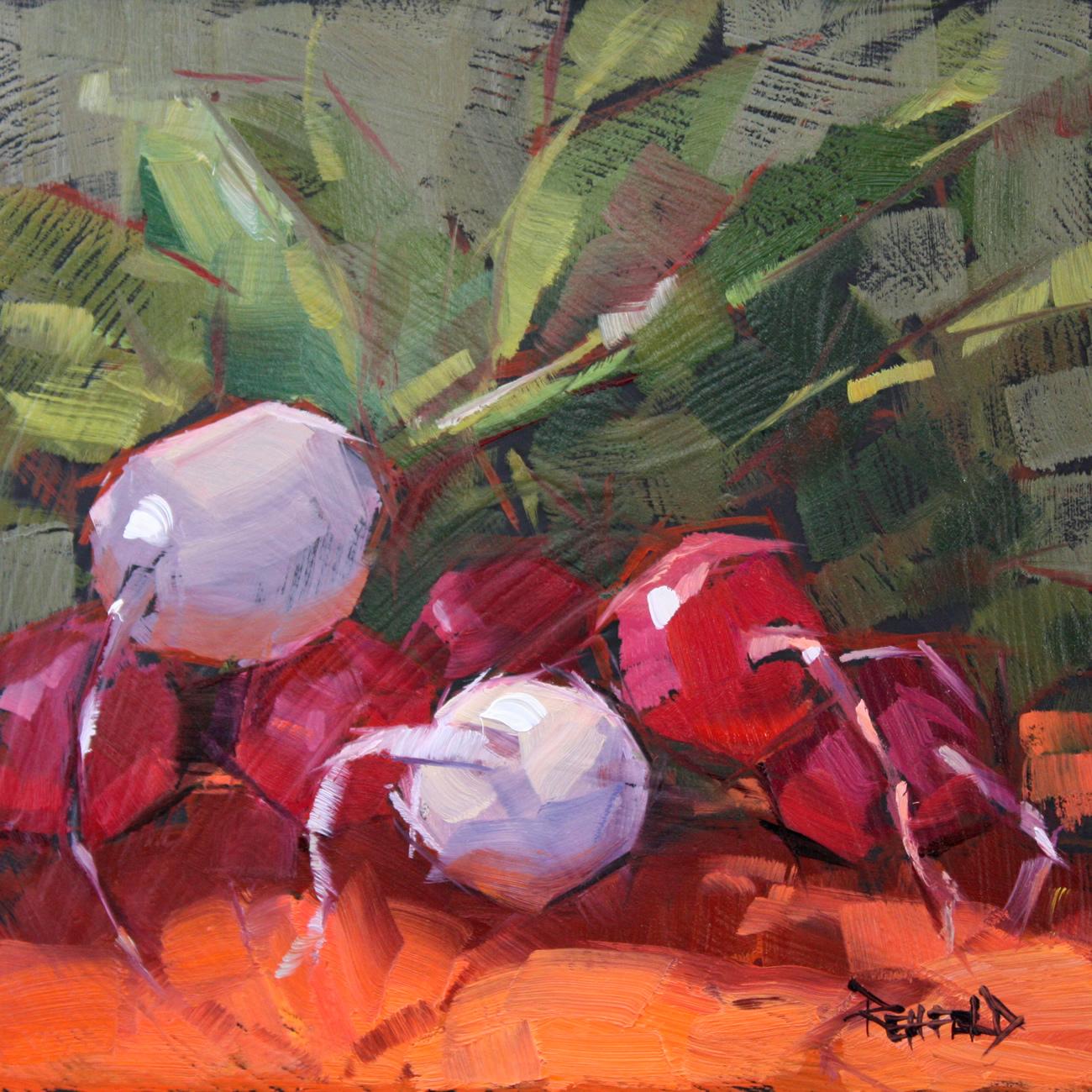 """Farmer's Market Radishes"" original fine art by Cathleen Rehfeld"