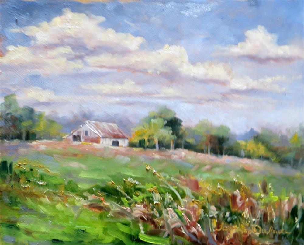 """""""Clouds Over the Meadow"""" original fine art by Tammie Dickerson"""