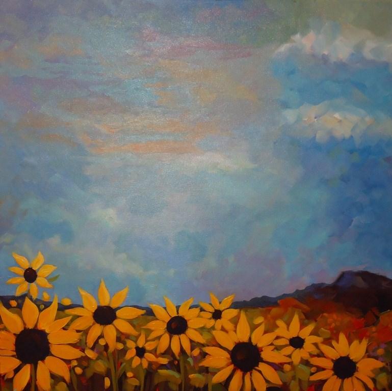 """""""SUNFLOWER HILL"""" original fine art by Dee Sanchez"""