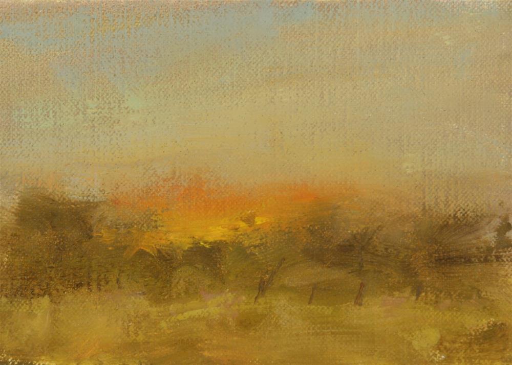 """""""Fall Sunset 07"""" original fine art by Scott Serafica"""