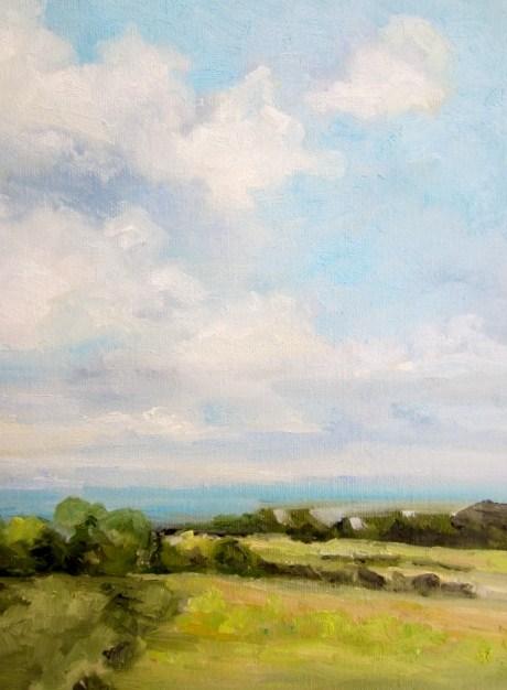 """Summer sky"" original fine art by Astrid Buchhammer"