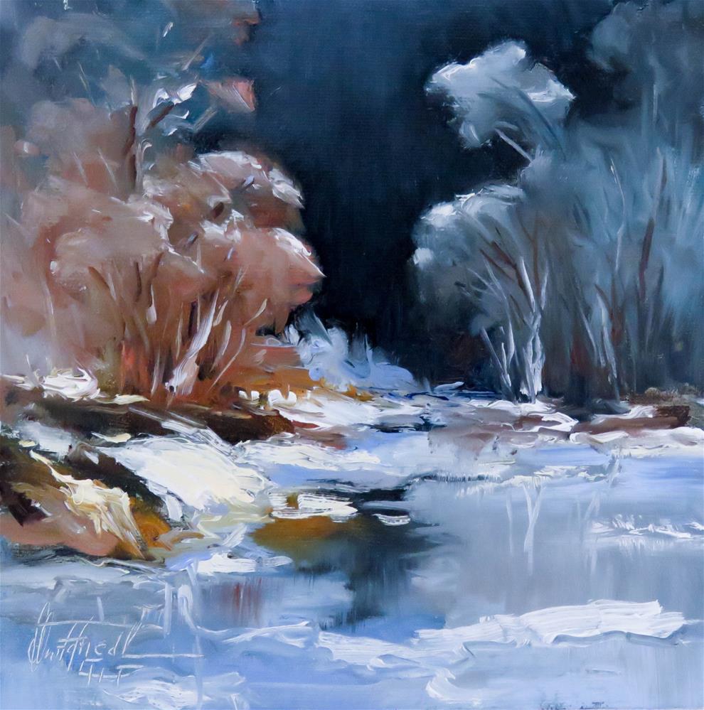 """A frosty Winternight"" original fine art by Christa Friedl"