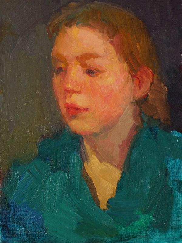 """Turquoise Dress"" original fine art by Kathryn Townsend"