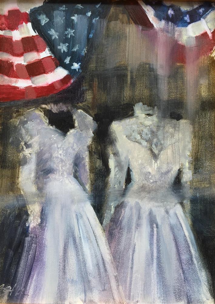 """""""American Wedding"""" original fine art by Beth Bathe"""