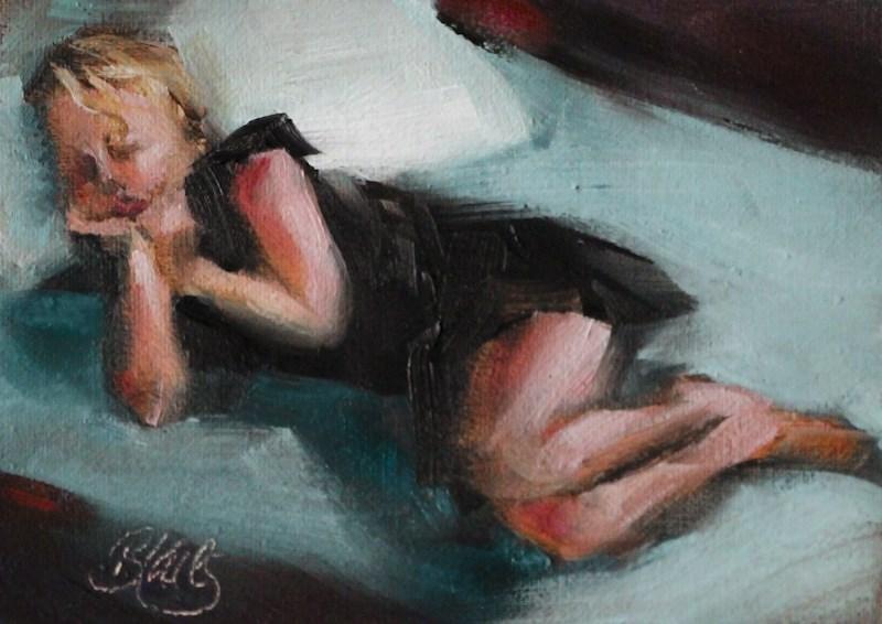 """""""Sleeping Beauty"""" original fine art by Pamela Blaies"""