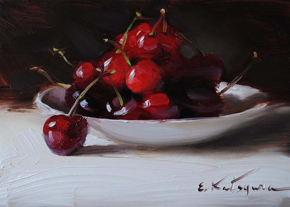 """Cherries"" original fine art by Elena Katsyura"