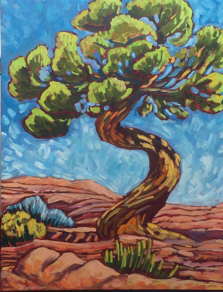 """""""The Juniper Twist"""" original fine art by Robyn Suzanne"""