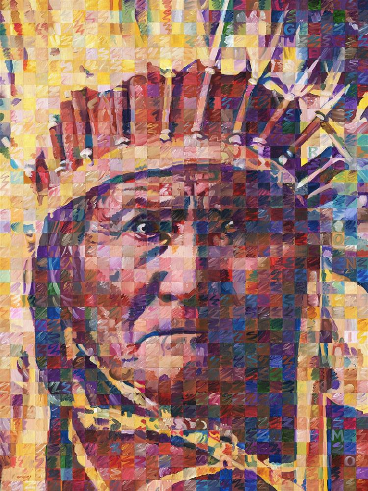 """Great Native American Chiefs – Geronimo"" original fine art by Randal Huiskens"