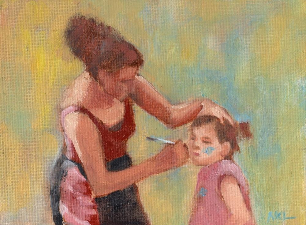 """Face Painting"" original fine art by Marlene Lee"