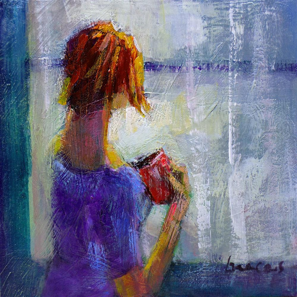 """""""By the window the rain"""" original fine art by salvatore greco"""