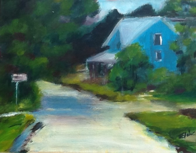 """House by the Side of the Road"" original fine art by Elaine Ford"
