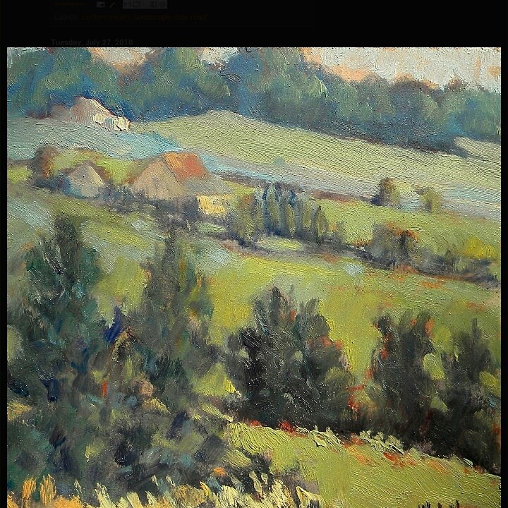 """Countryside Landscape Daily Oil Painting"" original fine art by Heidi Malott"