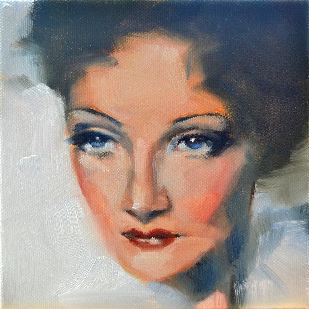 """Marlene D"" original fine art by Cheryl Wilson"