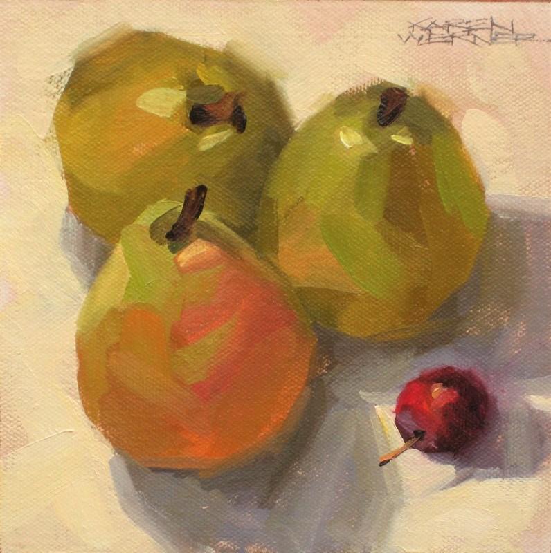 """Imposing Pears"" original fine art by Karen Werner"