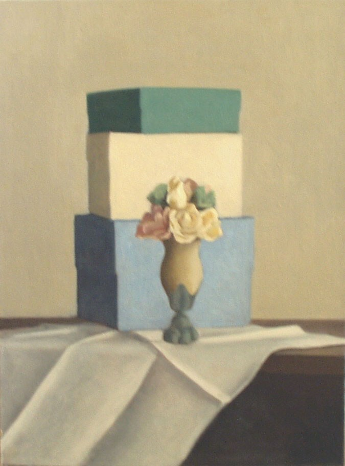 """""""One Vase and Three Boxes"""" original fine art by Megan Schembre"""