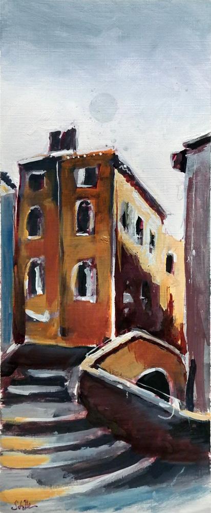 """""""2452 Venetian Steps Scene 1"""" original fine art by Dietmar Stiller"""