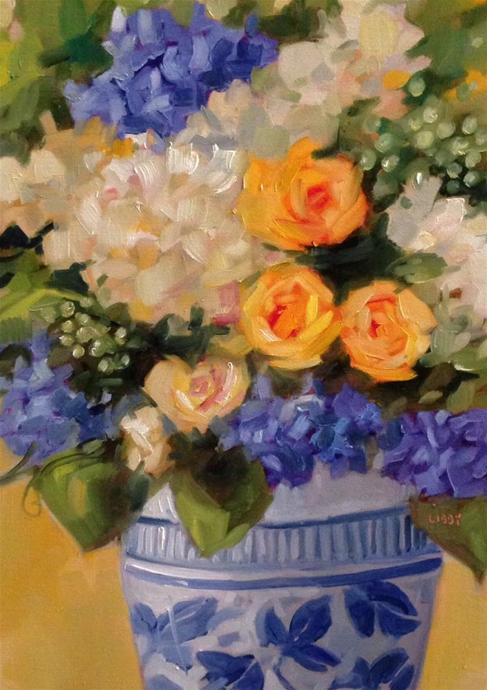 """""""Cheerful"""" original fine art by Libby Anderson"""