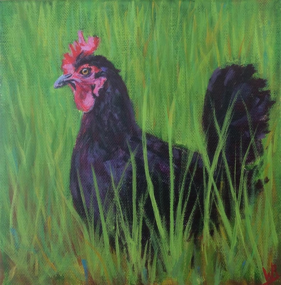 """""""Forager"""" original fine art by wendy black"""