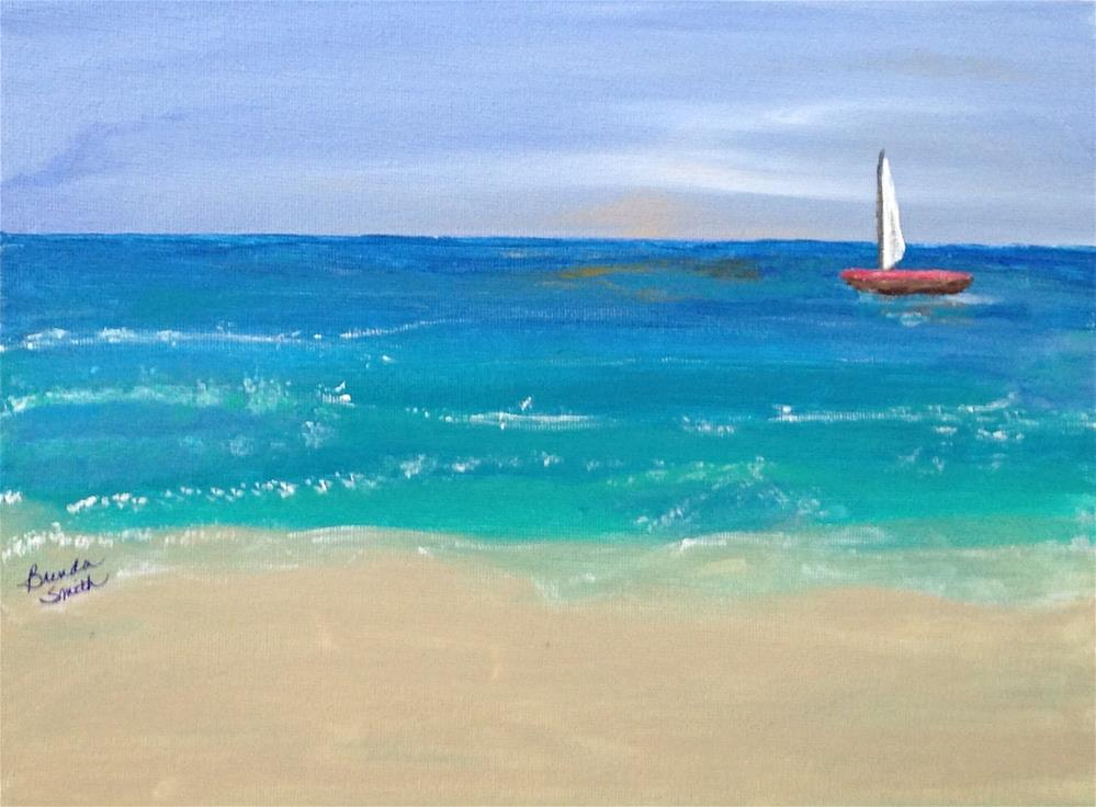 """Slow Sailing"" original fine art by Brenda Smith"