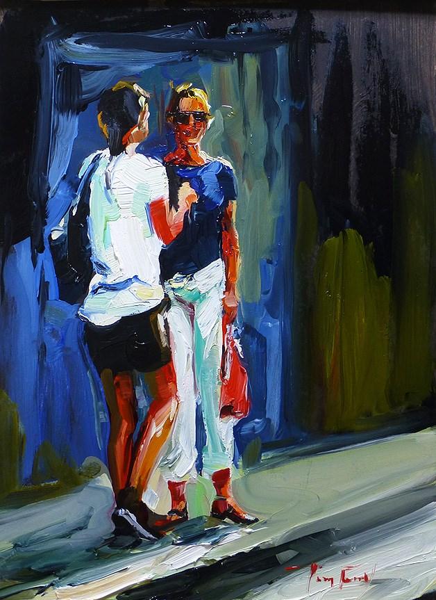 """""""Diskussion"""" original fine art by Jurij Frey"""