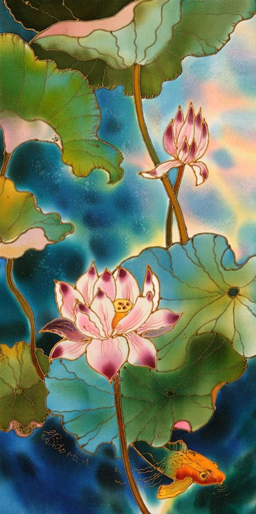 """Fish pond"" original fine art by Yelena Sidorova"