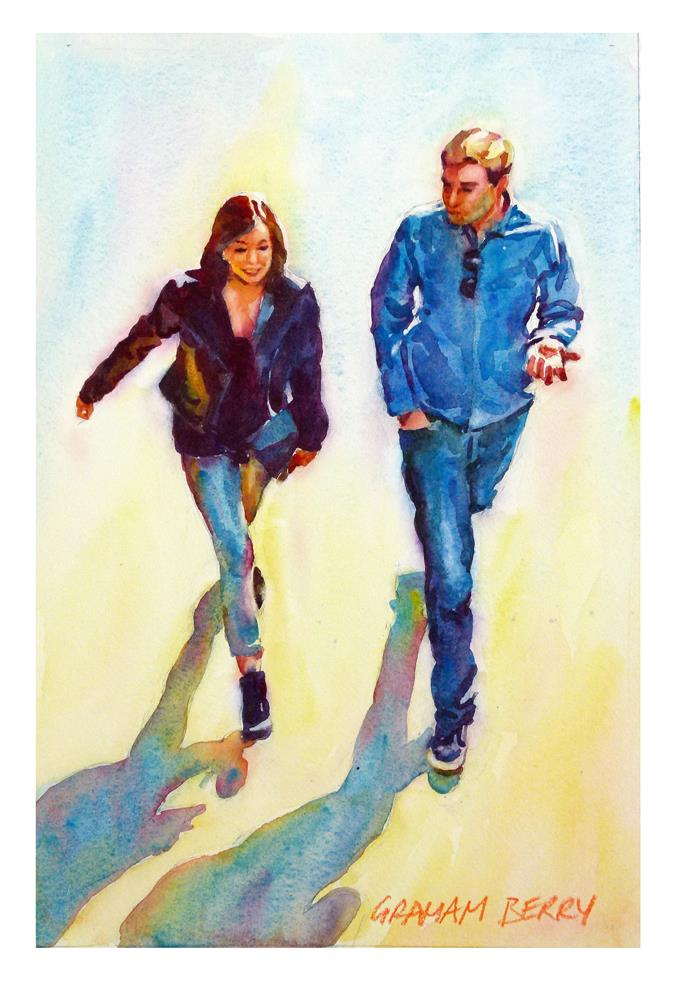 """""""Just walking and talking"""" original fine art by Graham Berry"""