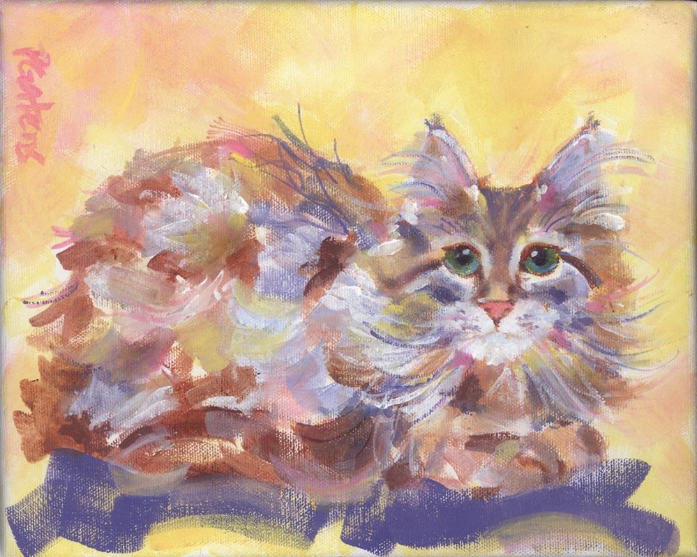 """Sweet Cream Kitten"" original fine art by Pamela Gatens"